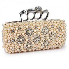Nuevo bolsa de mano de moda con perlas para mujer