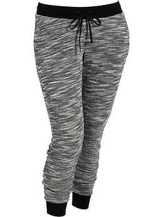 Winter is coming & this is my new favorite wear-at-home look! Womens Plus Marled Terry-Fleece Sweatpants Stylish Outfits, Cute Outfits, Fleece Joggers, Jogger Sweatpants, Joggers Womens, Plus Size Activewear, Look Cool, Swagg, Lounge Wear
