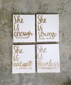 "girls nursery/room- custom canvas art- quote- canvases- ""she is fearless.."" Bible verses/ canvas art/ paintings/ hand painted"