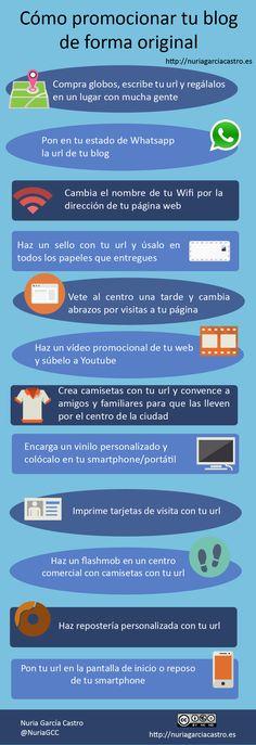 Cómo promocional tu blog de forma original Vía @Nuria García #infografia #infographic #socialmedia