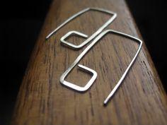 Geometric Sterling Silver Earrings by Splurge