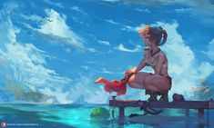 Kid (chrono cross) by cutesexyrobutts on DeviantArt Multimedia, Chrono Cross, Shadow Of The Colossus, Amazing Drawings, Environment Concept Art, Comic Games, Cool Backgrounds, Video Game Art, Video Games