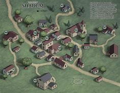 Fantasy City Map, Fantasy Village, Fantasy World Map, Fantasy Town, Fantasy Places, Isometric Map, Isometric Design, Village Map, Urban Village