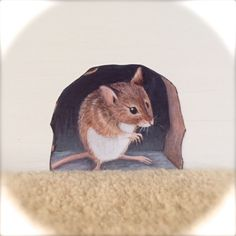 Mouse in hole Wall Sticker removable animal mural decal Removable Wall Decals, Vinyl Wall Stickers, Wall Decal Sticker, Wall Murals, Wall Art Decor, Bubble, Mouse Hole, College Dorm Decorations, Wall Decorations