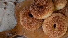 Baked Donuts w/ cinnamon and sugar