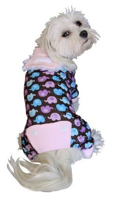 Anit Accessories Elephant Print Dog Pajama Apparel Large 20-inches by Anit Accessories Corp.  $23.00   BuyDogSweaters.com