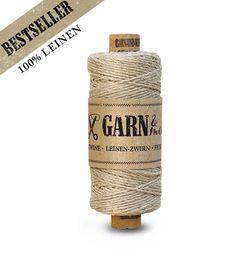 GARN & MEHR | Bäcker-Garn/bakers twine made in Germany-Leinen-Zwirn, Natur