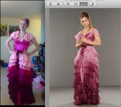 DeviantArt: Hermione Yule Ball Dress. For a better fade/ombre look, hand dye the fabric.