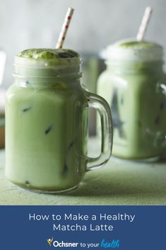 Sure, it's delicious, but a 16-ounce Grande Matcha Green Tea Latte from Starbucks packs in 240 calories and a whopping 32 grams of added sugar. Avoid the sugar rush with this DIY Matcha Latte, which has only 35 calories and less than 1 gram of sugar. Matcha Latte Recipe, Matcha Green Tea Latte, Gram Of Sugar, Sugar Rush, Starbucks, Mason Jars, Tasty, Healthy Recipes, Tableware