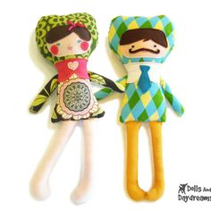 Dolls And Daydreams / Applique Face Dolls Sewing Pattern