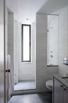 Wondrous Diy Ideas: Bathroom Remodel Accent Walls bathroom remodel on a budget spa.Bathroom Remodel Shower Budget bathroom remodel on a budget spa.Bathroom Remodel With Window Bath. Long Narrow Bathroom, Small Bathroom With Shower, Bathroom Design Small, Bathroom Interior Design, Small Bathrooms, Modern Bathrooms, Glass Bathroom, Simple Bathroom, Bathrooms Online