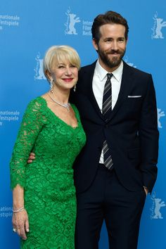 Helen Mirren and Ryan Reynolds in Berlinale 2015 Woman in Gold photocall