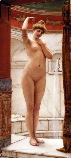 A Pompeian Bath John William Godward 1890
