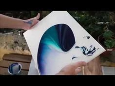Boom Gel Stain Pour on a Canvas - YouTube