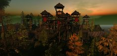 Fntasy Faire 2017 Chaddul Ro SIM | by Ember Adored Rise Above, Back Home, Sims, The Outsiders, Tower, Fantasy, Night, Outdoor, Outdoors