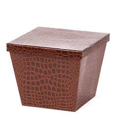 Look what I found on #zulily! Crocodile Storage Box by Willow Group #zulilyfinds
