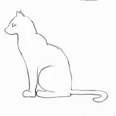 cat outline - not as basic as this but close