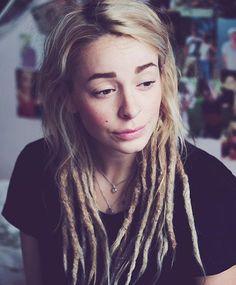 Dreadlocks Girl, Locs, White Girl Dreads, Partial Dreads, Reggae Style, Jah Rastafari, Dreadlock Hairstyles, Dream Hair, Love Hair
