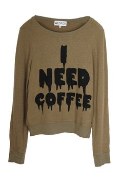 Wildfox Couture - Wildfox - I Need Coffee - Baggy Beach Jumper