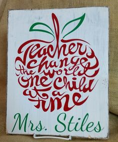 great teacher saying