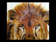 peinture acrylique lion - YouTube