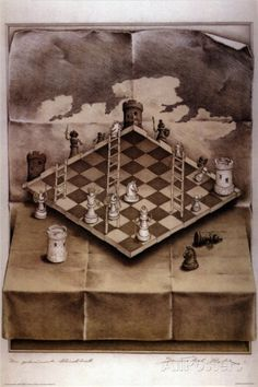 Illusion Chess Board Posters at AllPosters.com