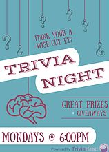 Trivia Head - Trivia night questions, Trivia night packages | Trivia Night Posters day