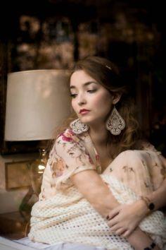 lace Sari earrings