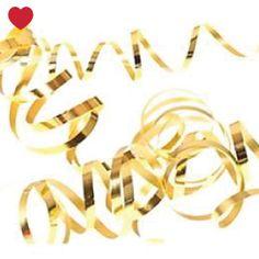 Serpentine goud Gouden serpentines om mee te gooien of te gebruiken als decoratie. In een pak zitten 18 kleine rolletjes. Deze gouden serpentines worden bijvoorbeeld veel gebruikt op bruiloften. Aantal: 18 Kleur: goud Brievenbuspost: nee