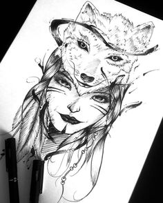 Lobo.  #tattoo #tatuagem #desenho #drawing #arte #art