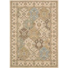 Better Homes and Gardens Suzani Faux Hook Medallion Rug Tan