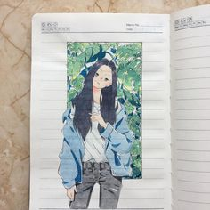 隠す隠す~ Double exposure is magic ✨ Notebook Art, Arte Sketchbook, Dibujos Cute, Guache, Korean Art, Anime Art Girl, Aesthetic Art, Cute Drawings, Cute Art