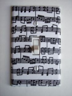 Musical Notes Single Toggle Switchplate by PopGoesTheColor on Etsy
