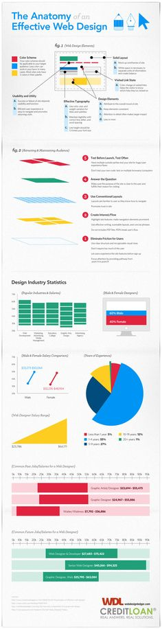 An infographic about the anatomy of an effective web design