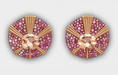 Established in London, Lauren Adriana creates a limited output of unique jewels. Unique Earrings, Unique Jewelry, Stud Earrings, Lotus Jewelry, Jewelry Boards, High Jewelry, Gemstone Colors, Diamond Studs, Pretty In Pink