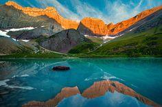 Glacier National Park - Cracker Lake in Many Glacier, MT