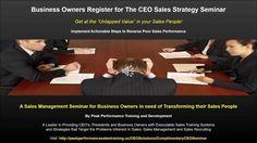 Sales Training Seminar Spotlight: CEO Sales Strategy Seminar You tube  US