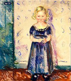 Portrait of Pernille Kirkeby, 1909 by Edvard Munch (Norwegian 1863–1944)