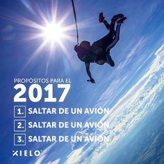 Ahora sí.. ¡A cumplir propósitos! 😉 ☁ ✖ #XieloSkydive #XieloCaribe #Skydive #Colombia