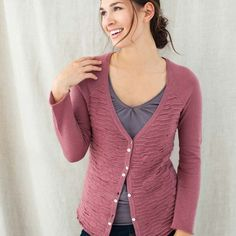 Estate Cardigan. super soft organic cotton; made in Peru; shell buttons ...    indigenousdesigns.com