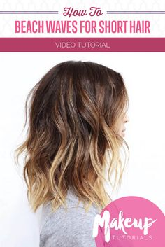 How To: Effortless Beach Waves For Short Hair | DIY Easy Hairstyle Tutorial (Video) by Makeup Tutorials at http://makeuptutorials.com/effortless-beach-waves-short-hair/