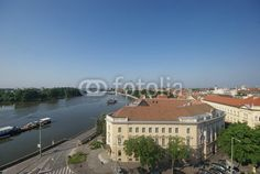 Cityscape of Szeged and the river of Tisza, Hungary - Buy this stock photo and explore similar images at Adobe Stock Hungary, Buildings, River, Stock Photos, Explore, Mansions, House Styles, Image, Manor Houses