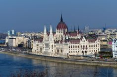 Parliament Building on the Danube River in Budapest (March 2014) - Photo taken by BradJill