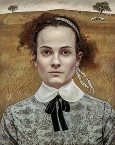 "Symbolist painter Andrea Kowch (American: 1986) -   ""My Heart Beside"" (2014)"