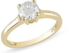 Ice.com 1 Carat Diamond 14K Yellow Gold Solitaire Engagement Ring on shopstyle.com