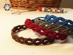 Macramotiv macrame knotted bracelet tutorial DIY