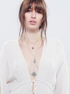 Free People Stardust Tiered Necklace at Free People Clothing Boutique
