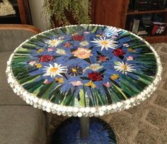 How to Make a Mosaic Stain Glass Table From Scraps