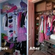 DIY Closet Makeover by Walmart Mom Monica...that wud be prefect for my first closet