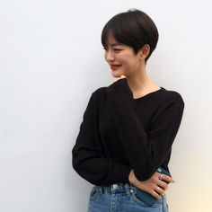 Image may contain: 1 person in 2020 Asian Short Hair, Girl Short Hair, Short Hair Cuts, Tomboy Hairstyles, Hairstyles Haircuts, Medium Hair Styles, Curly Hair Styles, Short Hair Outfits, Short Hair Images